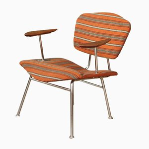 Vintage Danish Chrome and Teak Lounge Chair, 1960s