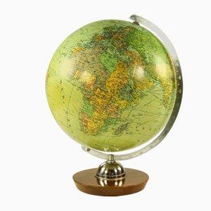 Beleuchteter Vintage Globus aus Glas von JRO, 1960er