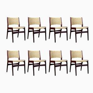 Dänische Mid-Century Modell 89 Stühle aus Palisander von Erik Buch, 1960er, 8er Set