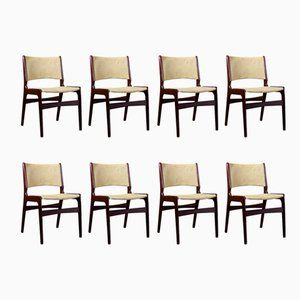Mid-Century Danish Model 89 Rosewood Chairs by Erik Buch, 1960s, Set of 8