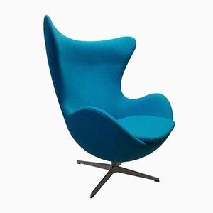 Silla Egg en azul de Arne Jacobsen para Fritz Hansen, década de 2000