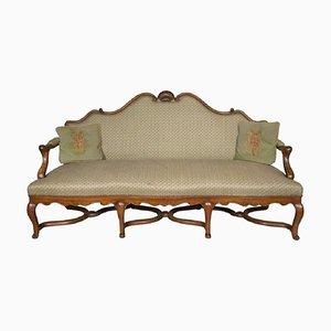 Canapé Style Louis XV Antique en Noyer