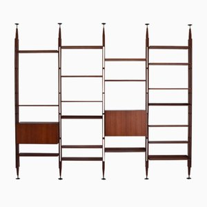 Large Teak Infinito Bookcase by Franco Albini for Poggi, 1950s