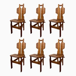 Vintage Teak Chairs, 1970s, Set of 6
