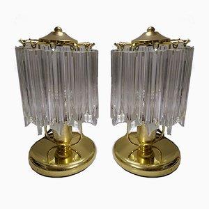 Moderne Mid-Century Tischlampen, 1980er, 2er Set