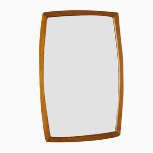 Danish Minimalist Teak Mirror, 1960s