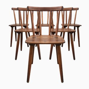 Vintage Model Tübingen Chairs by Adolf Schneck for Schäfer Stuhlfabrik, Set of 6