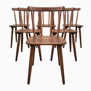Vintage Modell Tübingen Stühle von Adolf Schneck für Schäfer Stuhlfabrik, 6er Set