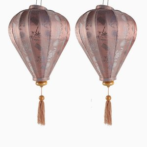 Antique Silk Lanterns, Set of 2