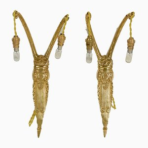 Art Deco Sconces, 1930s, Set of 2