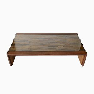 Brazilian Hardwood Coffee Table by Percival Lafer, 1960s