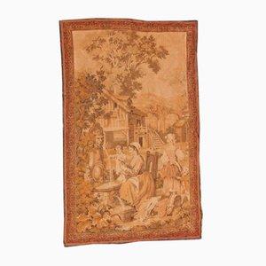 Antiker Wandteppich aus Jacquard-Wolle
