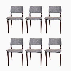 Vintage Model S82 Rosewood Dining Chairs by Eugenio Gerli for Tecno, Set of 6