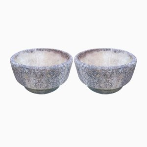 Brutalist Concrete Planters from Willow Lodge Crafts Ltd, Set of 2