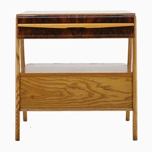 Czechoslovakian Oak & Walnut TV Stand, 1960s