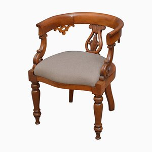 Antique Victorian Walnut Desk Chair