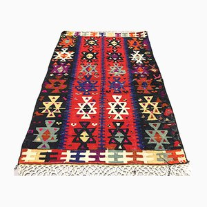 Turkish Wool Kilim Rug, 1960s