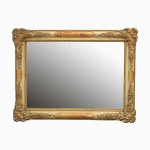 Espejo francés antiguo dorado, década de 1890