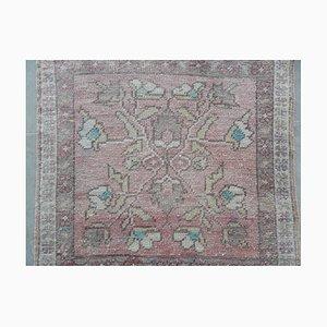 Türkischer Vintage Teppich mit floralem Muster