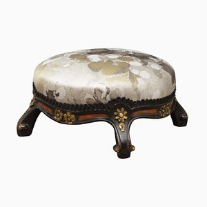 Antique Aesthetic Movement Ebonised Footstool by Marsh & Jones