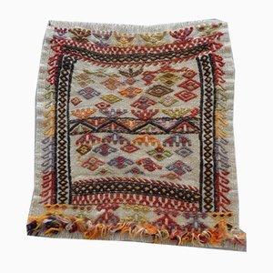 Alfombra turca Cappadocia vintage pequeña geométrica, años 70