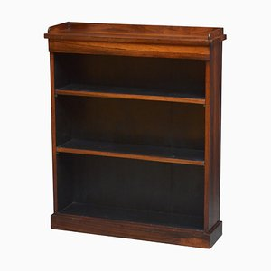 Antique William IV Rosewood Open Bookcase, 1890s