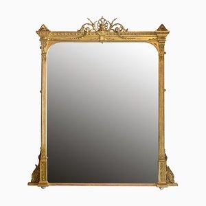 Specchio antico in legno dorato, Regno Unito, fine XIX secolo
