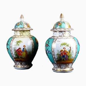 Vases Antiques en Porcelaine, Set de 2
