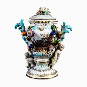 Antique Baroque Porcelain Vase