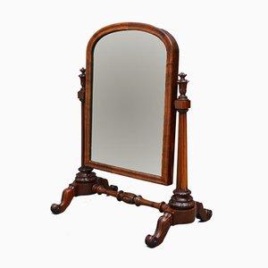 Specchio da toeletta antico vittoriano in mogano