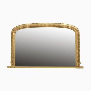 Antiker viktorianischer vergoldeter Spiegel mit vergoldetem Rahmen, 1890er