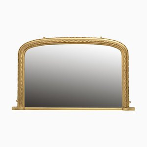 Antique Victorian Overmantel Gilt Mirror, 1890s