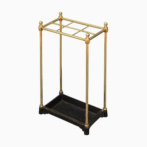 Antique Victorian Brass Umbrella Stand, 1880s