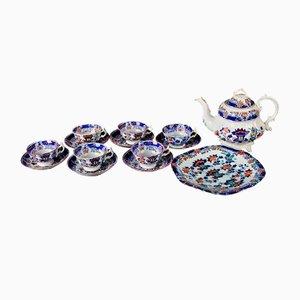 Antique Porcelain Tea Service, Set of 16