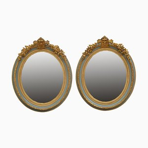 Antique Wall Mirrors, 1890s Set of 2
