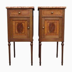 Tables de Chevet Antiques, Set de 2
