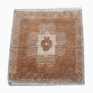 Kleiner viereckiger türkischer Vintage Teppich, 1970er