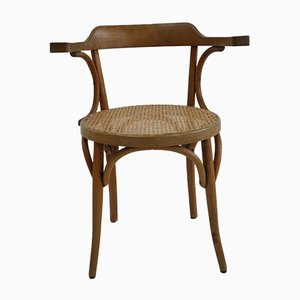 Beech and Rattan Dining Chair