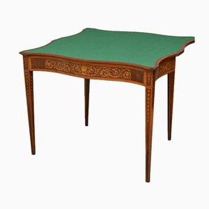 Table à Jeux de Cartes Style Sheraton Antique