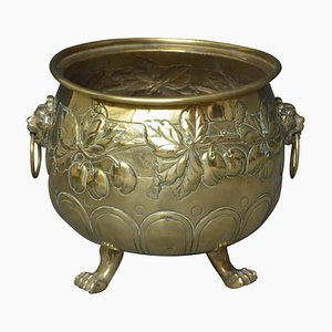Antique Edwardian Brass Planter