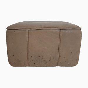 Poggiapiedi DS44 vintage in pelle marrone di de Sede