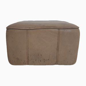 Vintage DS44 Brown Leather Ottoman from de Sede