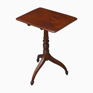 Petite Table d'Appoint Regency Antique en Acajou
