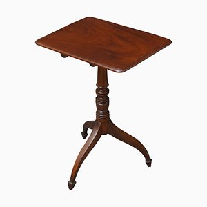 Small Antique Regency Mahogany Wine Side Table