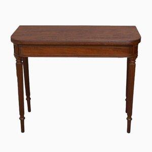 Table à Jeux de Cartes Regency Antique en Acajou
