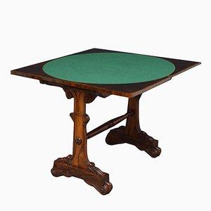 Mesa para cartas William IV antigua de palisandro