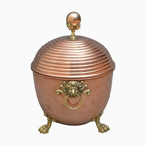 19th Century Copper Coal Scuttle
