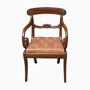 William IV Mahogany Carve Chairs, Set of 2
