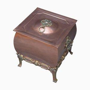 Cache-Pot Victorien Antique en Cuivre, 1890s