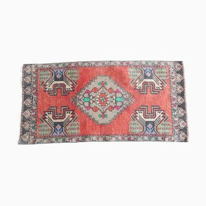 Vintage Turkish Oushak Door Mat Rug